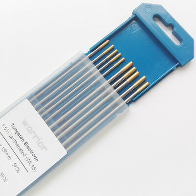 WL15 1.5% Lanthanated Tungsten Electrodes For TIG Welding Stainless Steel 6""