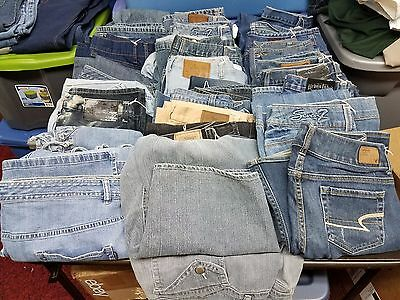 Women's Mixed Lot of 30 premium Jeans,various Brands,Styles,sizes for Resale