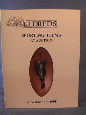 Eldred's November 1998 Sporting Items  Auction Catalog