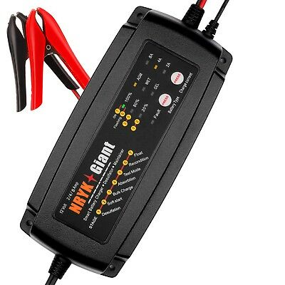 12V 2A/4A/8A Smart Car Battery Charger Maintainer For AGM GEL WET Batteries
