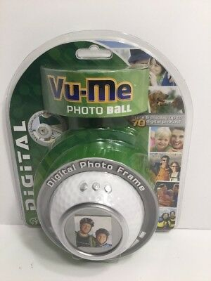 New Vu-Me Digital Photo Frame Golf  Ball Displays 70 Digital Photos New B1