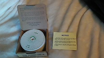 """Box of 300+ Lathem Watchman Clock time recorder paper time charts 4 5/16"""" Dia"""