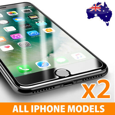 2x Scratch Resist Tempered Glass Screen Protector for Apple iPhone 7 6s 6 Plus