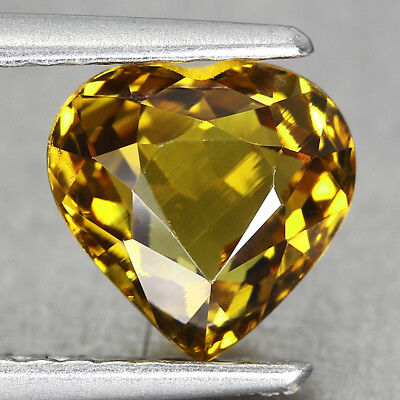 1.62CT. 7x7mm Natural MALI GARNET GROSSULAR Heart Yellow / S01712