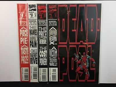 1993 Marvel Comics DEADPOOL CIRCLE CHASE 1-4 Complete Set Lot