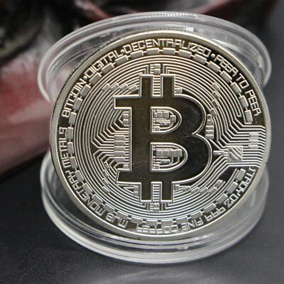 Gold Plated Bitcoin Coin Collectible BTC Coin Art Collection Gift Physical EU