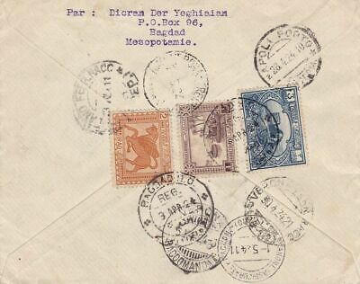 1924 IRAQ/IRAK - Registered commercial cover to Italy, very fine