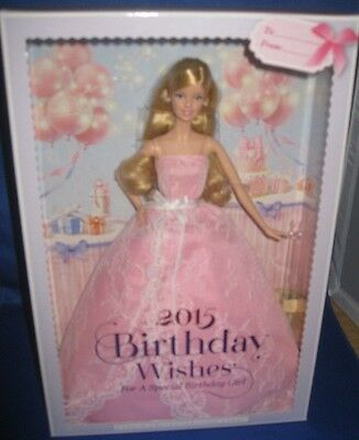Barbie Collector 2015 Birthday Wishes Barbie Doll, Nrfb
