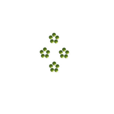 Natural Peridot 3x3 mm to 6x6 mm Round Shape Faceted Cabochon Loose Gemstones
