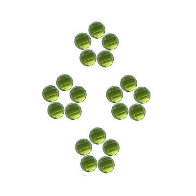 Natural Peridot 6x6 mm Round Shape Faceted Cabochon Loose Gemstones Untreated
