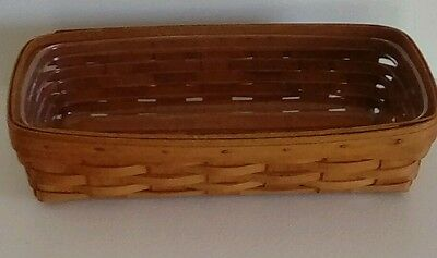 Longaberger 1994 Rectangular Basket with Plastic Tray