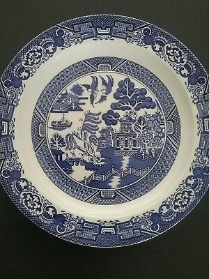 Blue willow pattern dinner plate Woods&Sons England