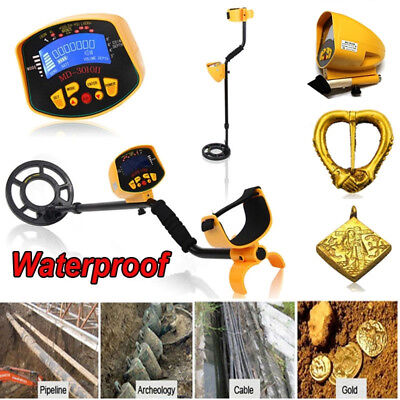 Waterproof Metal Detector Gold Digger Hunter Finder Deep Sensitive Search Tool
