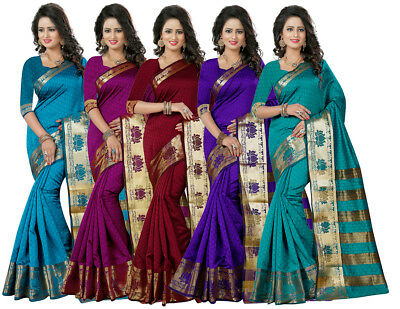 Indian Bollywood Pakistani Ethnic Designer Sari with Blouse Party Wear Saree