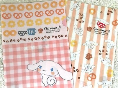 SANRIO Chinnamoroll Clear Paper File Folder Document A4size 2pcs set