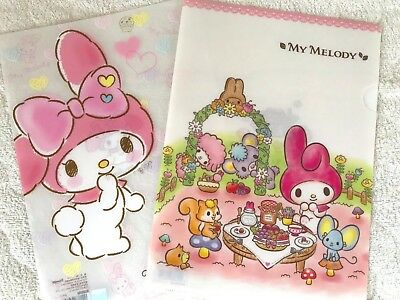 SANRIO My Melody  Clear Paper File Folder Document A4size 2pcs set