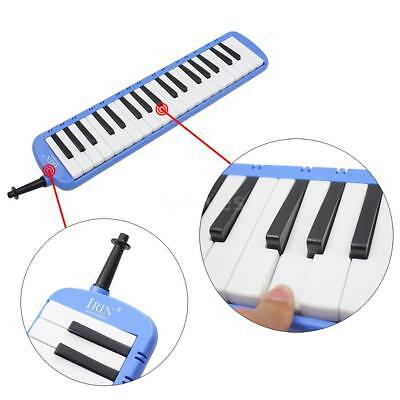 37 Piano Keys Melodica Pianica with Carrying Bag for Student Beginner Blue Q0G1