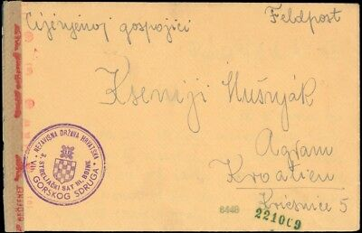 1943, Kroatien, Brief (1330200303)