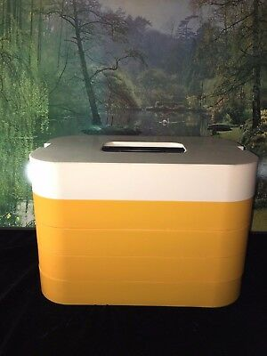 Kambrook Hampa-Pak Vintage Picnic Set Yellow Stackable Retro