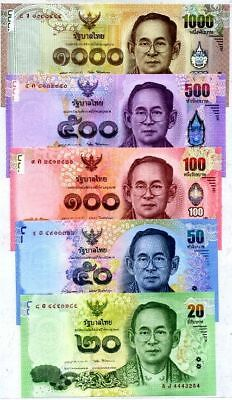 Banknote Thailand Set Of 5 : 20,50,500,1000 Baht Since 2014 - Now UNC