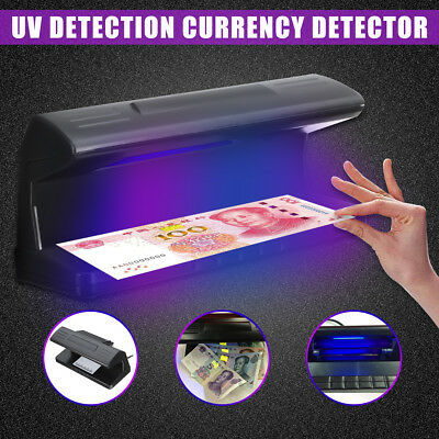 UV LED Light Detector Fake Forgery Money Test Dollar Checker Bank Note w/ Scale