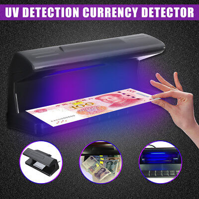 UV LED Light Detector Fake Forgery Money Tester Dollar Checker Bank Note w/Scale