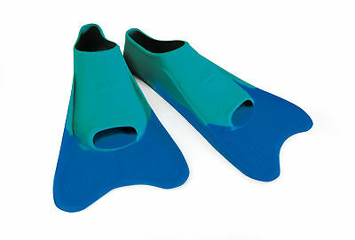 Zoggs 100% Moulded Ultra-Comfort Silicone Training Blue Finz Size UK 11-12