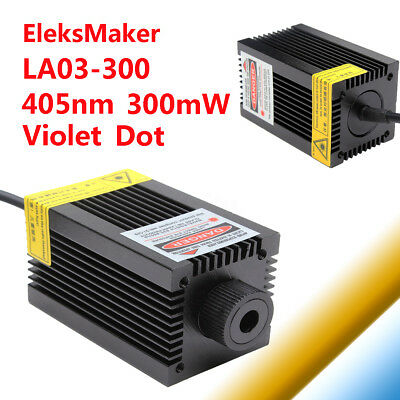 EleksMaker LA03-300 405nm 300mW Violet Dot Laser Module Holder For DIY Engraver