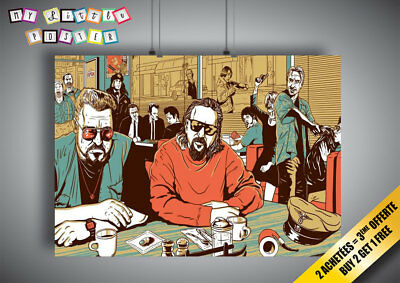 Poster Big Lebowski Pulp Fiction Wall