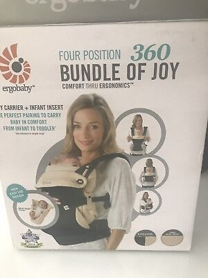 Baby Ergo Carrier 360 with baby insert & rain cover