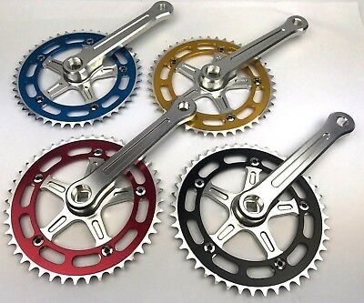 ProMX BMX 3 Piece Aluminium Cranks Set - Old School BMX Style Modern Quality