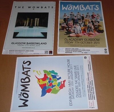The Wombats posters - collection of 3 tour concert / gig poster