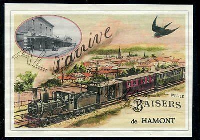 HAMONT --..... TRAIN ...   souvenir creation moderne serie numerotee
