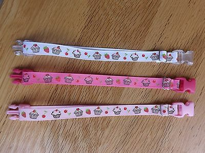 Puppy/Kitten Training/Whelping/ I.D.  collars x 3 Assorted colours  - 048