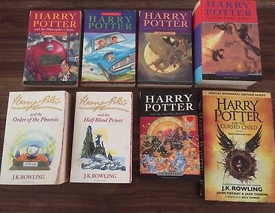 Harry Potter Full Set Of Seven Books And Harry Potter & The Cursed Child. 📚