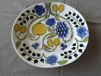 "Vintage ARABIA FINLAND PARATIISI Oval Plate 9-7/8"" x 9"""