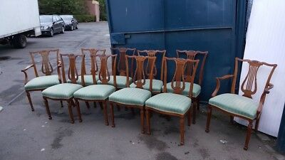 Set of 10 Mahogany Dining Chairs