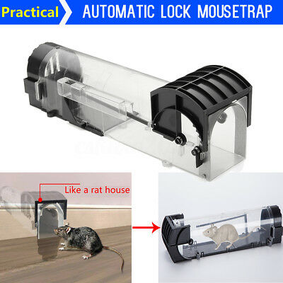 Mouse Mice Rat Mousetrap Catching Automatic Lock Bait Trap Humane Hamster Cage