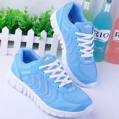 New Women's Smart Casual breathable Sport sneakers running shoes-sky blue