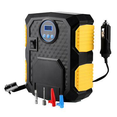 12V Digital Air Kompressor Auto Reifen Luftpumpe Inflator Druckluft LED 150 PSI