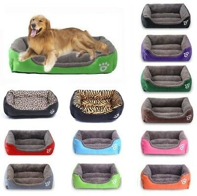 Large Pet Bed Dog Cat Puppy Kitten Soft Warm Fleece Lining Cosy Washable Cushion