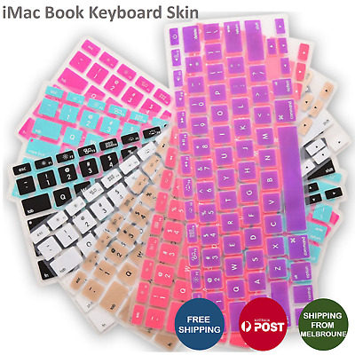 "Colored Keyboard Case Cover Protector for Apple Macbook Air Pro 13.3"" 15.4"""