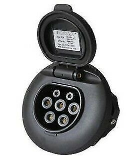 Type 2 EVSE, electric vehicle charge point socket, IEC62196-2. EV Charger 32amp
