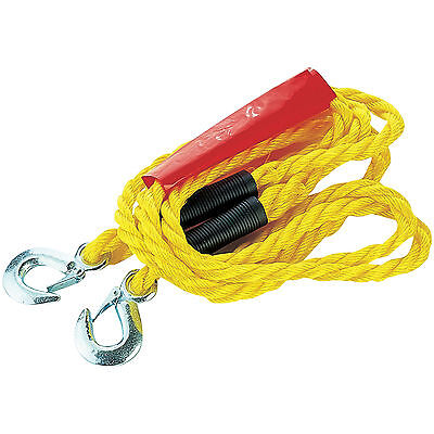 Heavy Duty Tow Rope Strap Cable Hooks Car Van Road Recovery Uk Towing Pull Rope