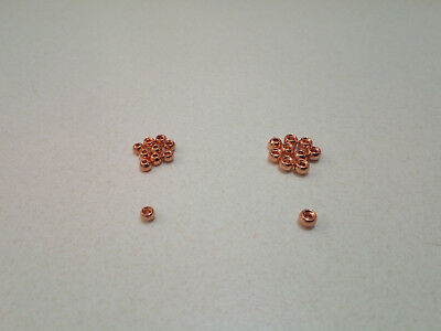 Copper Cyclops Tungsten Bead Heads for Fly Tying in 2.7mm and 3.2mm