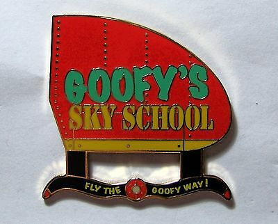 Disney Pin DLR Goofy's Sky School Sign Mystery Collection