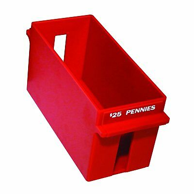 MMF Industries Porta-Count Extra-Capacity Rolled Coin Penny Storage Tray, 25 Red