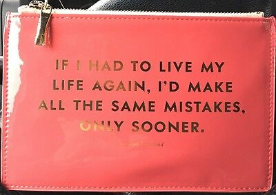 "KATE SPADE - Pencil Pouch -  Set - ""Same Mistakes"" - Six Pieces Included!"