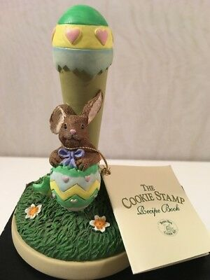 New Brown Bag Cookie Art Stamp Easter Egg #22 1997 Recipe Book Bunny Rabbit 5""