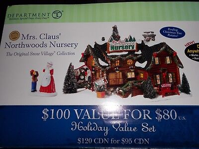 DEPARTMENT 56 SNOW VILLAGE MRS. CLAUS' NORTHWOODS NURSERY *Display - Read*